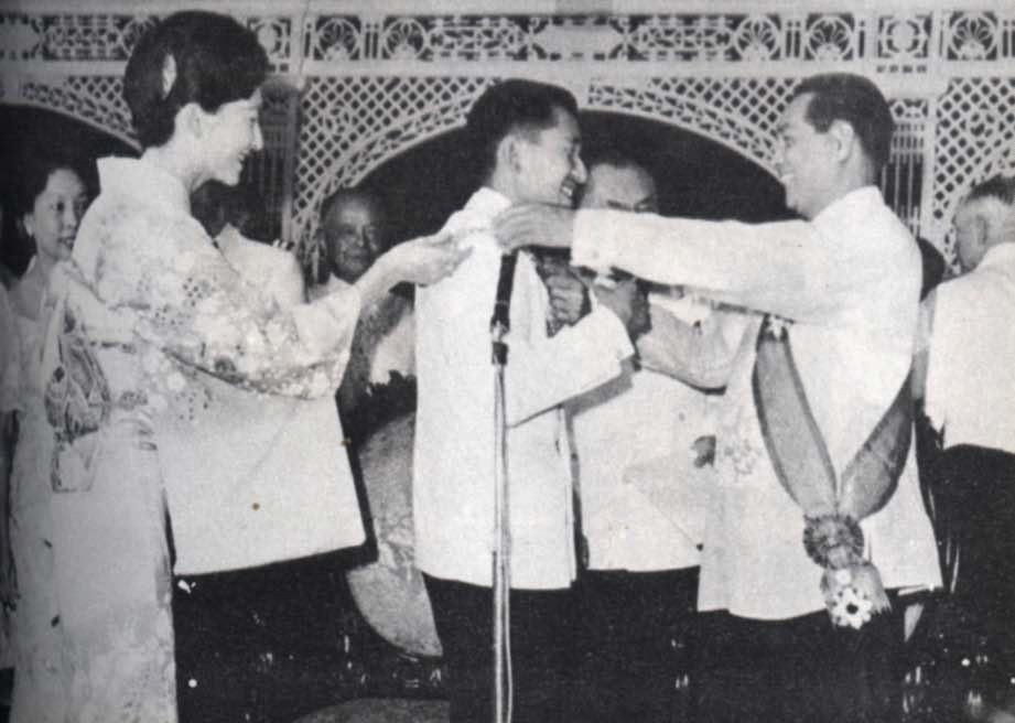 Prince Akihito and Princess Michiko with President Diosdado Macapagal, November 5, 1962